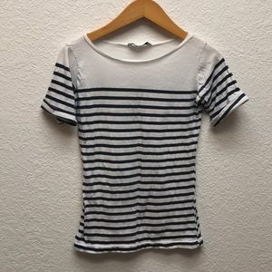 Pull & Bear Breton striped shirt sleeve top